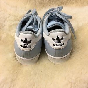 ADIDAS Superstar Shell Toe Baby Blue Size 8